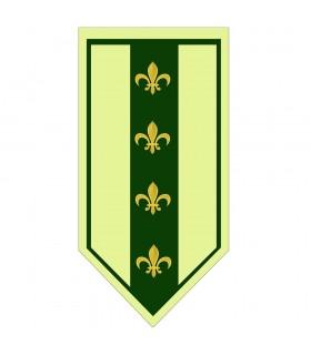 Estandarte Medieval Verde Flor de Lis