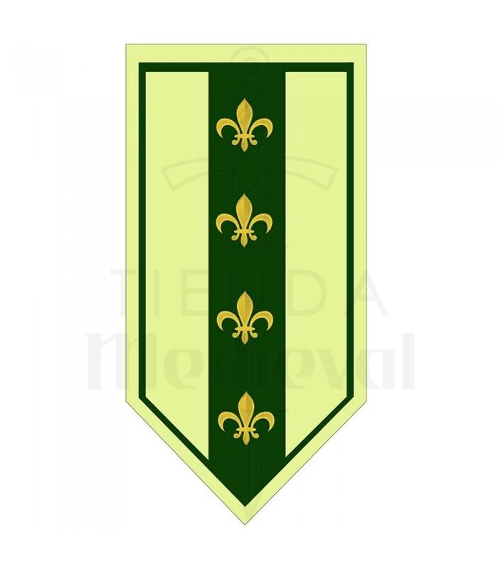 Banner Mittelalterlichen Grüner Flor De Lis