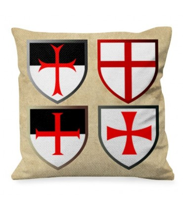 Cojín con Cruces Templarias