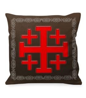 Cojín Cruz de Jerusalem Caballeros Templarios