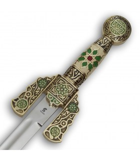 Espada Árabe decorada, 84 cms.