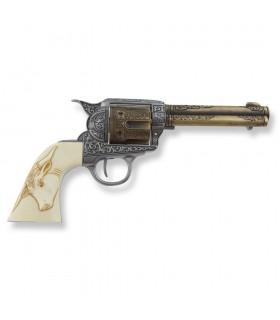 Revólver Colt 45 PeaceMaker cachas búfalo, 27 cms.