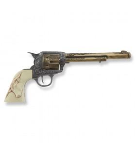 Revólver Colt 45 PeaceMaker largo cachas búfalo, 27 cms.