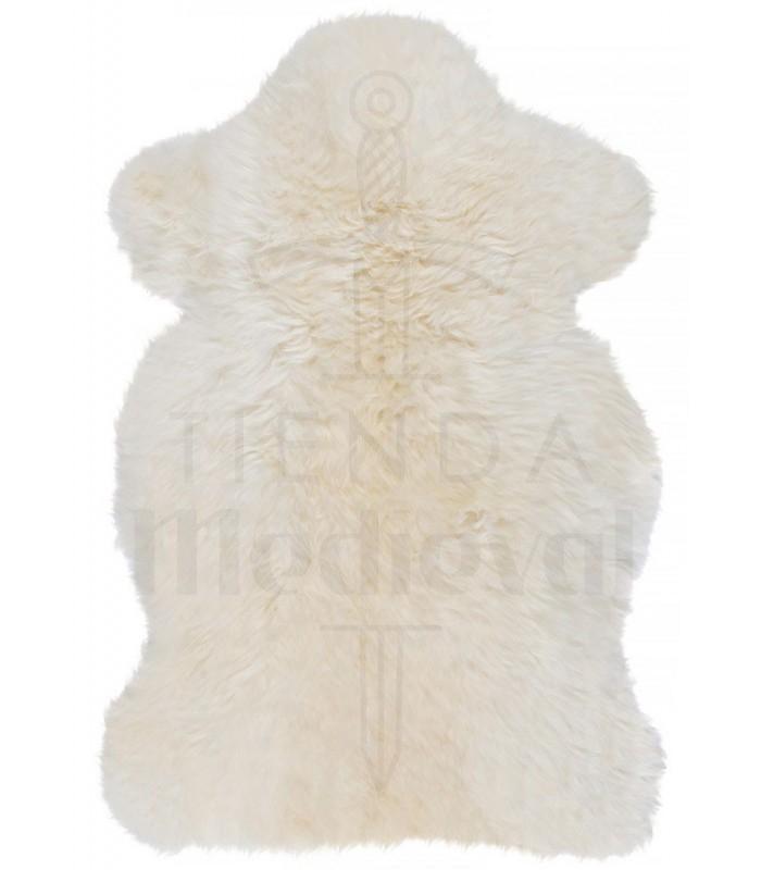 Piel de cordero blanca