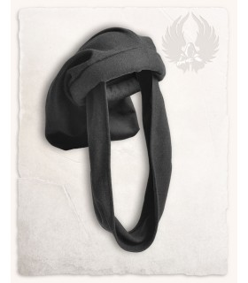 Gorro Medieval Rafael en negro, Unisex