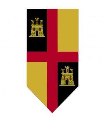 Banner Mittelalterlichen Kreuz mit Burgen