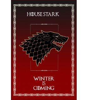 Estandarte Juego de Tronos House Stark (75x115 cms.)