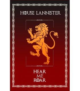 Estandarte Juego de Tronos House Lannister (75x115 cms.)