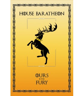 Estandarte Juego de Tronos House Baratheon (75x115 cms.)