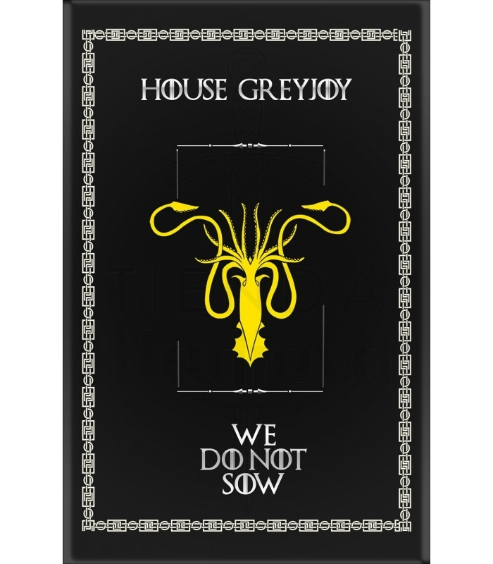 Estandarte Juego de Tronos House GreyJoy (75x115 cms.)