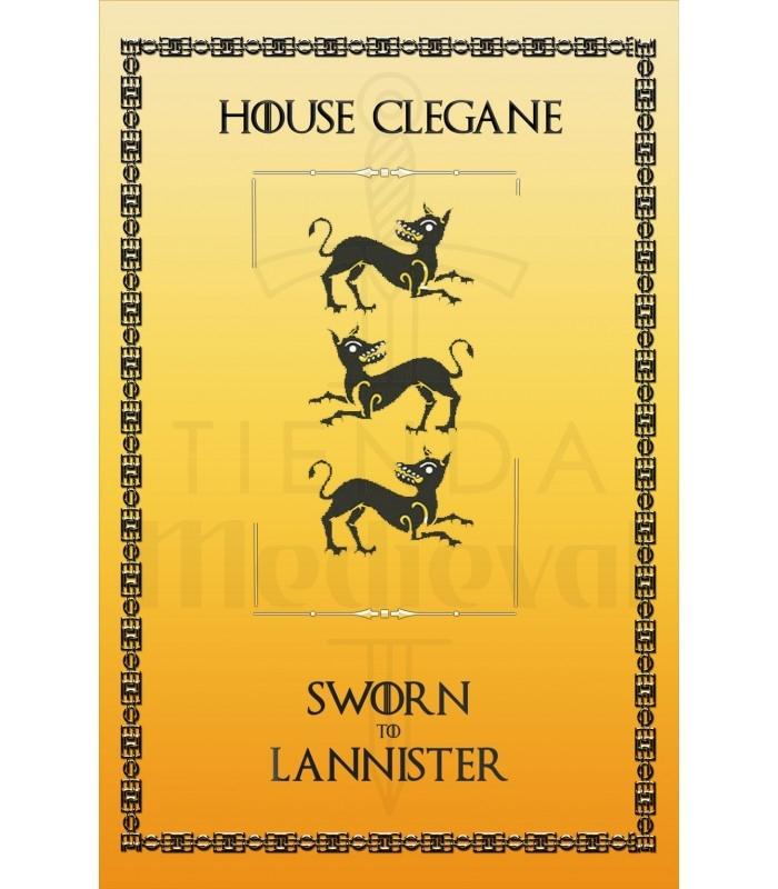 Estandarte Juego de Tronos House Clegane (75x115 cms.)