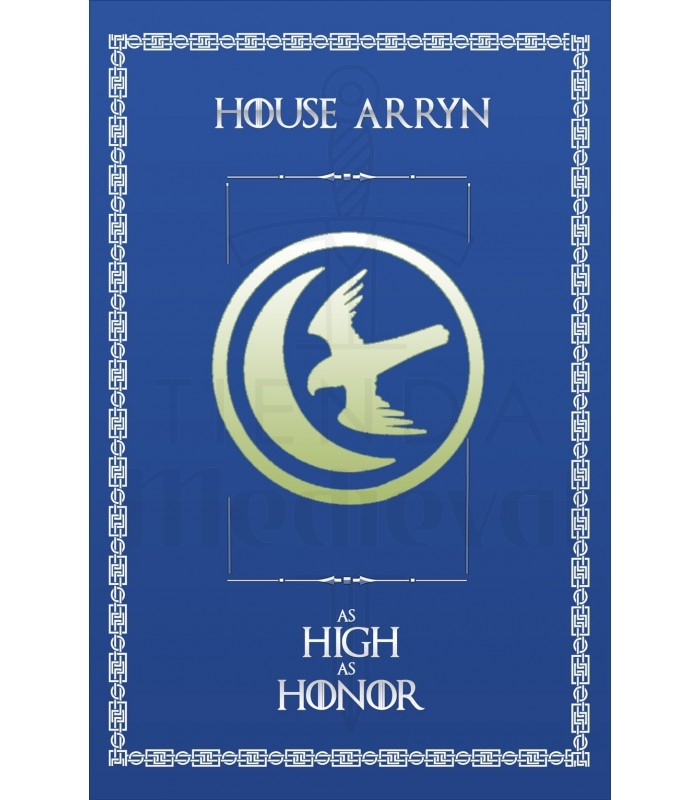 Estandarte Juego de Tronos House Arryn (75x115 cms.)