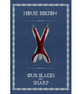 Estandarte Juego de Tronos House Bolton (75x115 cms.)