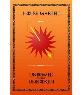 Estandarte Juego de Tronos House Martell (75x115 cms.)