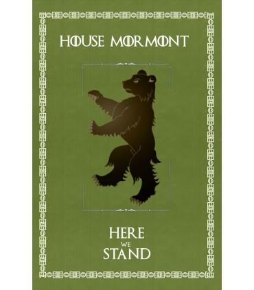 Estandarte Juego de Tronos House Mormont (75x115 cms.)