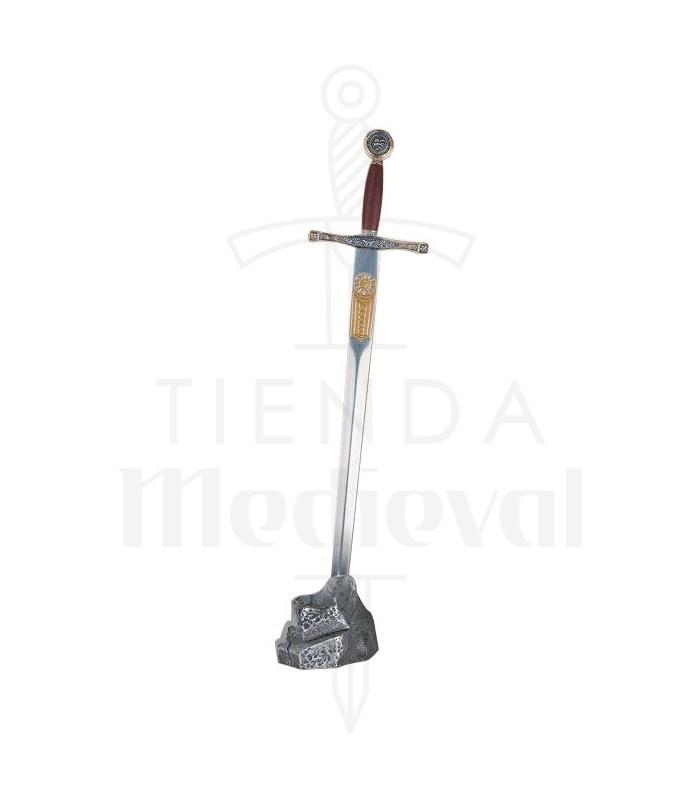 Expositor piedra plateada mini Excalibur