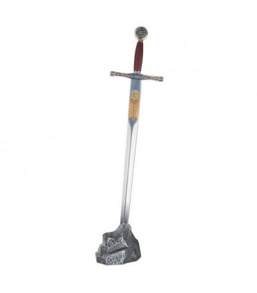 Aussteller stein silberfarbenes mini-Excalibur