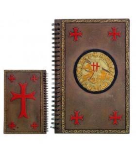Agenda notas con el sello de los Caballeros Templarios