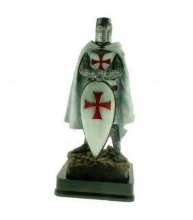 Miniatura Caballero Templario con Escudo, 23 cms.