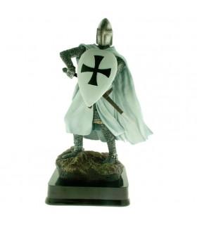 Miniatura Caballero Guerrero Teutónico con Escudo, 23 cms.