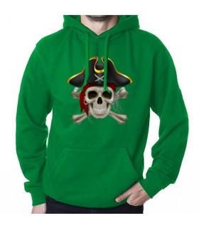 Sudadera Pirata Verde, con Capucha