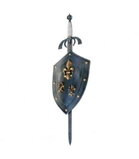 Escudo Flor de Lys con espada