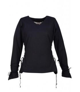 Blusa medieval Aila, negro