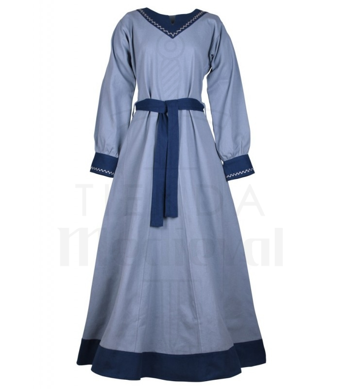 Vestido vikingo Jona, azul