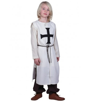 Tabardo niño Teutónico, blanco natural