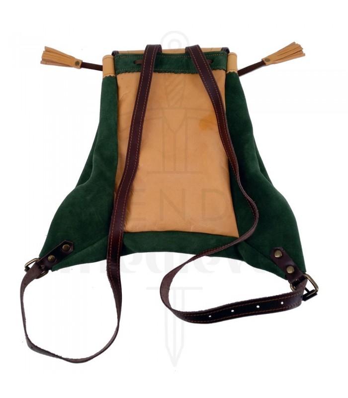 Mochila medieval de cuero