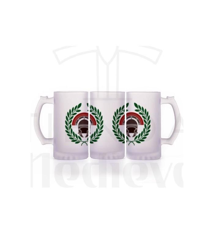 Römischer Centurion Bierkrug, durchscheinendes Glas