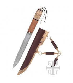 Cuchillo Vikingo, Acero de Damasco