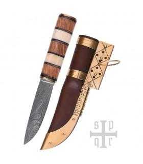 Cuchillo Vikingo Seax, Acero de Damasco