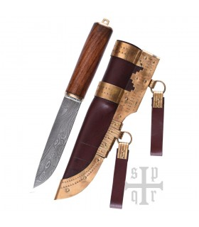 Cuchillo Vikingo Seax Damasquino
