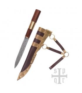 Cuchillo Seax Damasquino