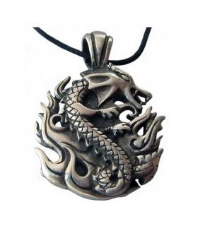 Colgante Feng-Shui del Dragón Elemental Fuego