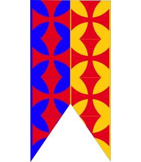 Estandarte Medieval Bicolor Cruces