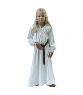 Vestido vikingo blanco Ana, niña