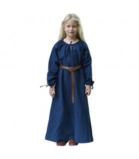 Vestido vikingo azul Ana, niña
