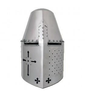 Yelmo Templario remachado, acero 1,6 mm.