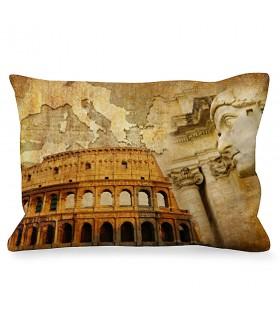 Cojín Rectangular Emperador Romano junto a Coliseo