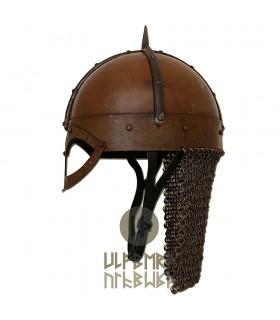 Casco Vikingo Gjermundbu con cota de malla, Battle-Ready