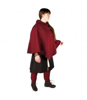 Gugel vikingo Egill, lana roja