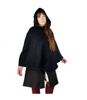 Gugel vikingo Egill, lana negra