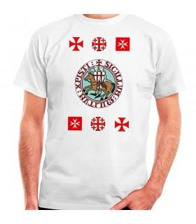 Camiseta Caballeros Templarios con Cruces, manga corta