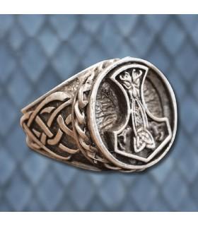 Anillo Vikingo Martillo de Thor