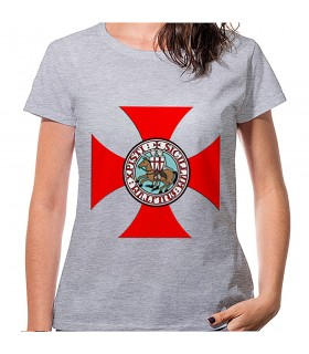 Camiseta Cruz Templarios Mujer manga corta, varios colores