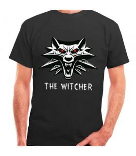 Camiseta The Witcher negra, manga corta