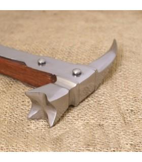 Martillo de guerra Medieval pico de cuervo, (70,5 cms.)