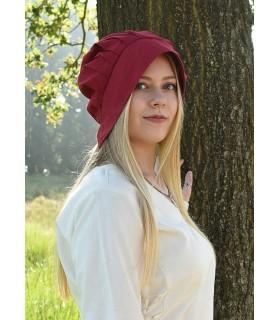 Cofia Mujer Medieval con pliegues, varios colores